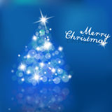 Christmas tree with blurred lights Royalty Free Stock Images