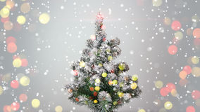 Christmas tree and blurred lights Royalty Free Stock Images