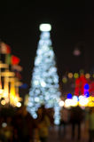 Christmas Tree, Blurred Photo bokeh Royalty Free Stock Image