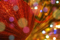 Christmas tree blurred sparkling background Stock Photo