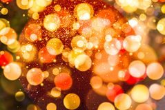 Christmas tree blurred sparkling background Stock Photos