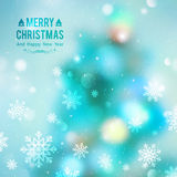 Christmas tree blurred Stock Images