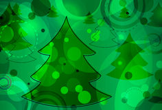 Christmas Tree Bokeh. Abstract Christmas background featuring Christmas trees and bokeh circles Stock Photography