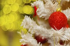 Christmas tree on bokeh background stock photography