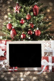 Christmas Tree , Bokeh Effect With Copy Space Royalty Free Stock Image