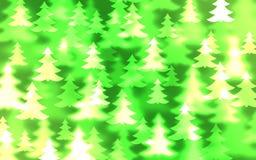 Christmas tree bokeh effect vector illustration