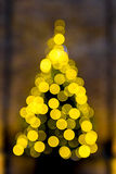 Christmas tree the bokeh effect Stock Photography