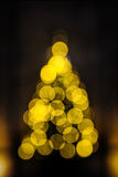 Christmas tree the bokeh effect Royalty Free Stock Image
