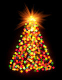 Christmas tree bokeh light Stock Photo