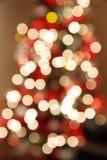 Christmas tree bokeh Royalty Free Stock Photos