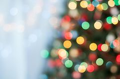 Christmas tree bokeh Stock Images