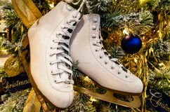 Christmas Tree Boots stock photo