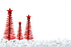 Christmas tree border Stock Photo