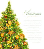 Christmas tree border Stock Image