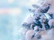 Christmas tree border Royalty Free Stock Image