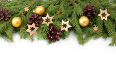Christmas tree border Royalty Free Stock Images