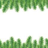 Christmas tree border. Vector christmas tree border, seamless horizontally Royalty Free Stock Photography