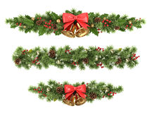 Christmas tree borders. Royalty Free Stock Photography