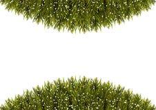 Christmas Tree Borders. Christmas background. Vector illustration Royalty Free Stock Photography