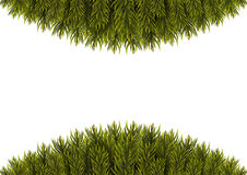 Christmas Tree Borders. Christmas background. Vector illustration Stock Images