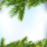 Christmas tree borders,  on light background. Royalty Free Stock Photos
