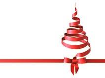 Christmas tree bow Stock Photography