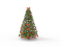 Christmas Tree With Bows Royalty Free Stock Photography