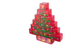 Christmas tree box surprise Stock Photography