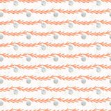 Christmas Tree Branch Bauble Stripes Grey and Orange. Christmas Tree Branch Bauble Stripes, Seamless Vector Pattern, Drawn Illustration for Winter Fashion Prints vector illustration
