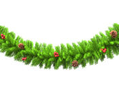 Christmas Tree Branch Decorations. Isolated on white background Royalty Free Stock Photos