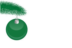 Christmas tree  branch and Ornament Stock Images