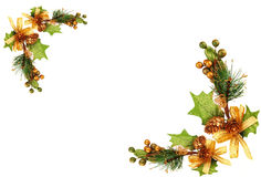 Christmas tree branch ornament Stock Images