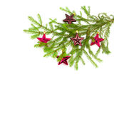 Christmas tree branch with toys Stock Image