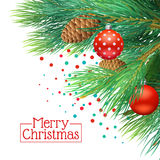 Christmas Tree Branches Background Stock Photography