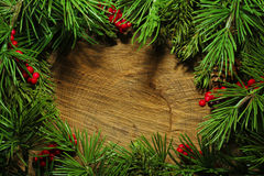 Christmas tree branches background Stock Photo