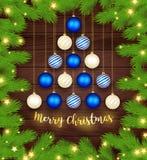 . Christmas Tree Branches Border Stock Photo
