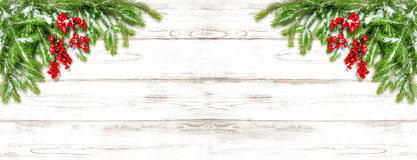 Christmas tree branches Festive decoration Holidays banner royalty free stock images
