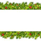 Christmas tree branches frame vector Royalty Free Stock Photography