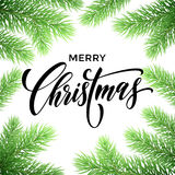Christmas tree branches. Greeting card Royalty Free Stock Photo