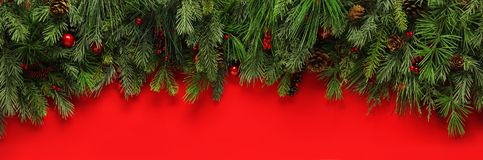 Christmas branches background Royalty Free Stock Photo