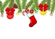 Christmas tree branches Stock Photos