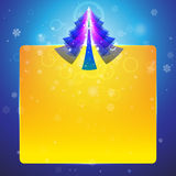 Christmas tree with bright gold leaf Royalty Free Stock Photo