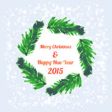 Christmas tree brunches banner Royalty Free Stock Photo