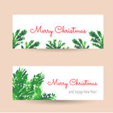 Christmas tree brunches banners Stock Images