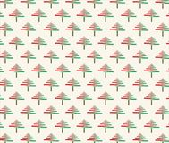 Christmas tree brush in red and green color of wrapping paper beautiful picture background. Christmas tree brush in red and green color of wrapping paper stock illustration