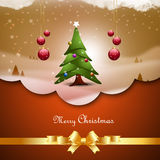 Christmas  tree with bubbles Royalty Free Stock Image