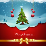Christmas  tree with bubbles Royalty Free Stock Photography
