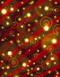 Christmas Tree and Bulbs lighting Royalty Free Stock Images