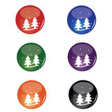 Christmas Tree Button Stock Images