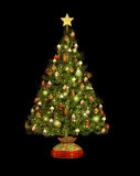 Christmas Tree CA. A decorated Christmas tree in clip art Royalty Free Stock Image